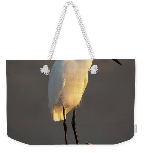 Egret Glow Weekender Tote Bag