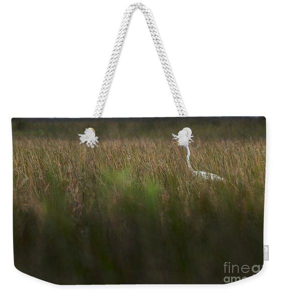 Egret In Swamp-1-0711 Weekender Tote Bag