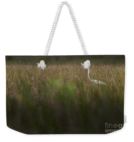 Egret In Swamp-2-0711 Weekender Tote Bag