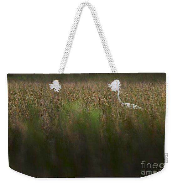 Egret In Swamp-3-0711 Weekender Tote Bag
