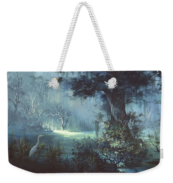 Egret In The Shadows Weekender Tote Bag