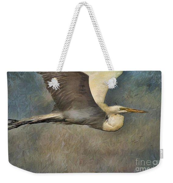 Egret Journey Weekender Tote Bag