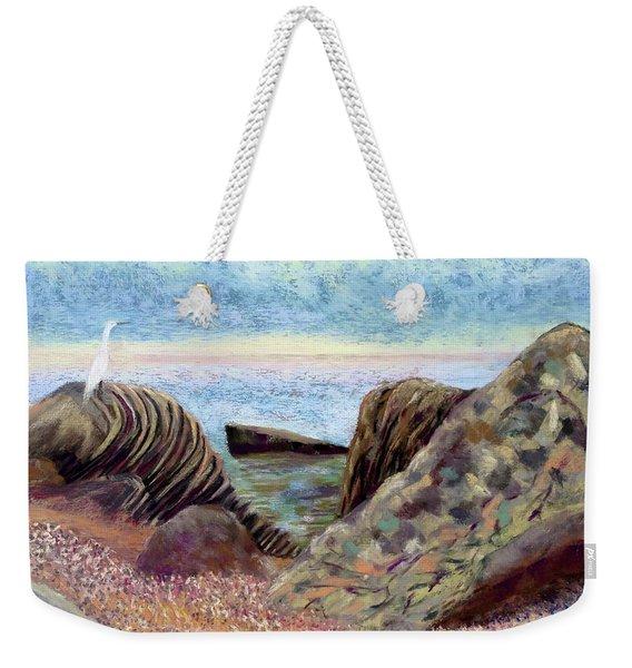 Egret On The Sound Weekender Tote Bag