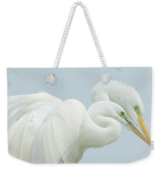 Egrets In Love 2 Weekender Tote Bag
