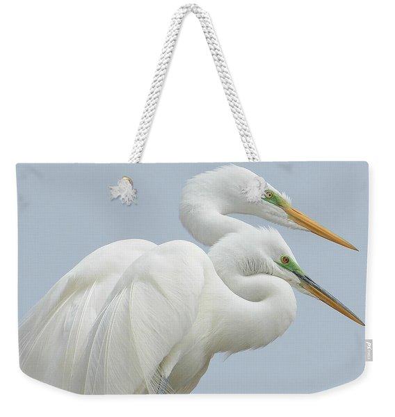 Egrets In Love Weekender Tote Bag