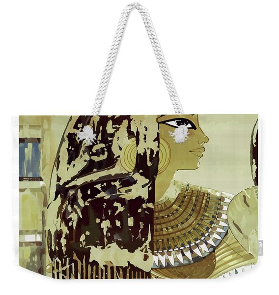 Egypt, Ancient Art, Woman's Profile Weekender Tote Bag