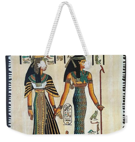 Egyptian Papyrus Weekender Tote Bag