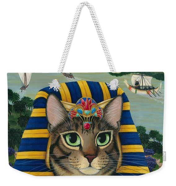 Egyptian Pharaoh Cat - King Of Pentacles Weekender Tote Bag