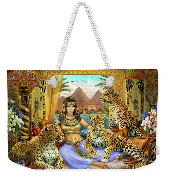 Egyptian Queen With Leopard Weekender Tote Bag