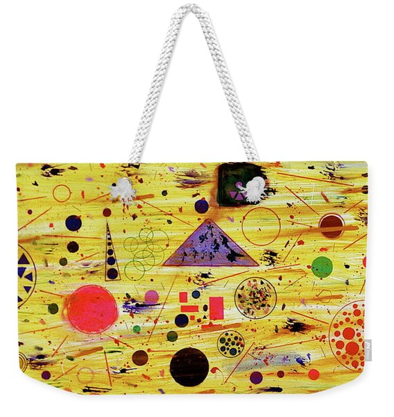 Weekender Tote Bag featuring the painting Egyptian Sunrise by Michael Lucarelli