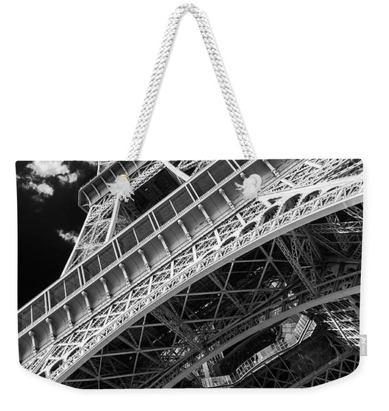 Eiffel Tower Infrared Abstract Weekender Tote Bag