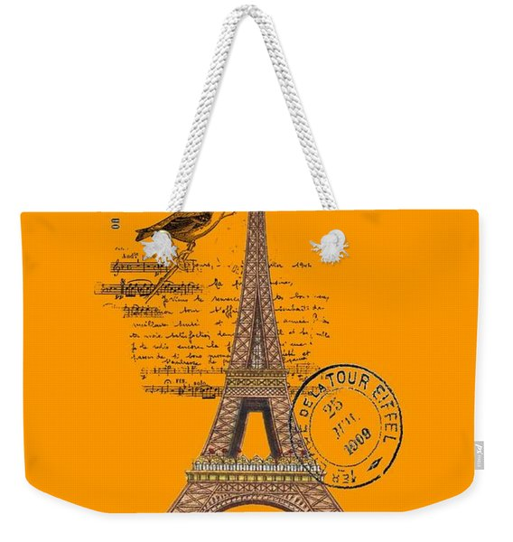 Eiffel Tower T Shirt Design Weekender Tote Bag