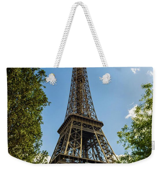 Eiffel Tower Through Trees Weekender Tote Bag