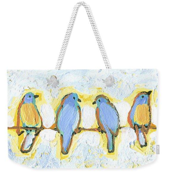 Eight Little Bluebirds Weekender Tote Bag