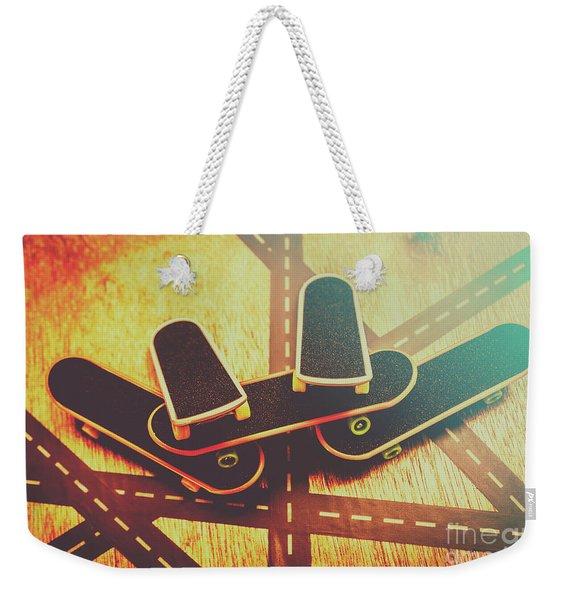 Eighties Street Skateboarders Weekender Tote Bag