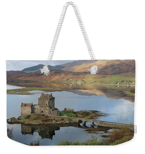 Eilean Donan Castle In Autumn - Panorama Weekender Tote Bag