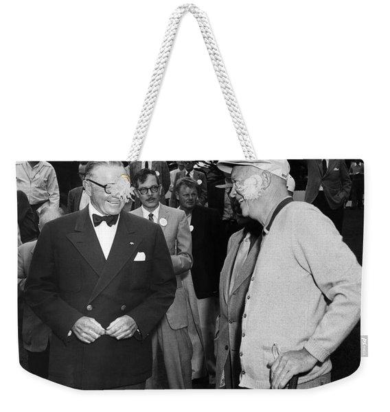 Eisenhower At Pebble Beach Weekender Tote Bag