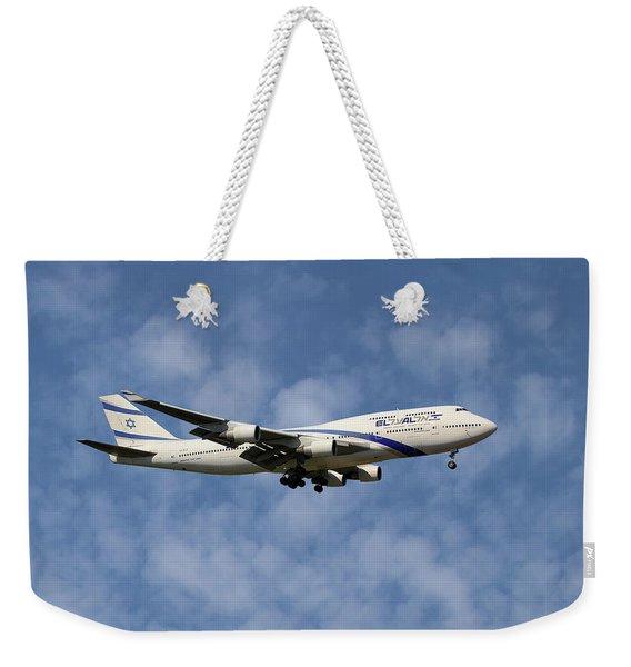 El Al Israel Airlines Boeing 747-458 1 Weekender Tote Bag