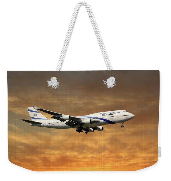 El Al Israel Airlines Boeing 747-458 2 Weekender Tote Bag