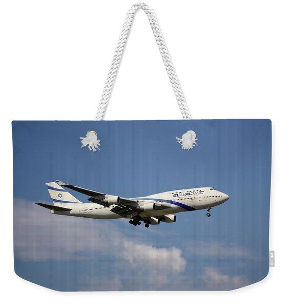 El Al Israel Airlines Boeing 747-458 4 Weekender Tote Bag