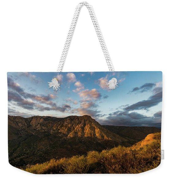 El Cajon Mountain Last Light Weekender Tote Bag