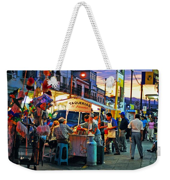 Weekender Tote Bag featuring the photograph El Flamazo by Skip Hunt