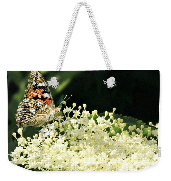 Elderflower And Butterfly Weekender Tote Bag