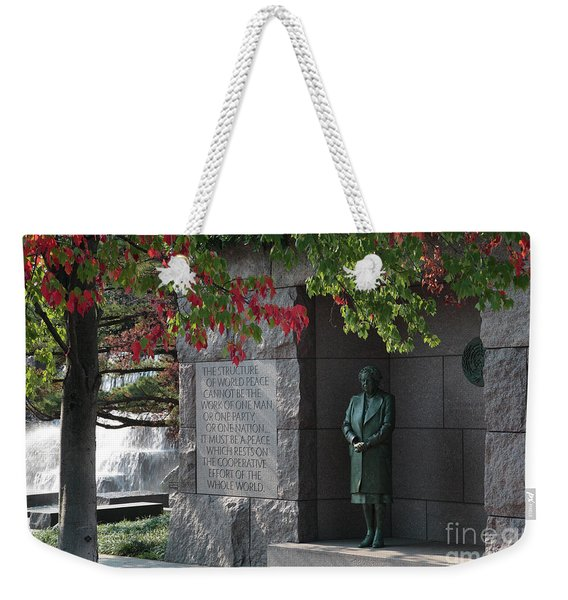 Eleanor's Alcove At The Fdr Memorial In Washington Dc Weekender Tote Bag