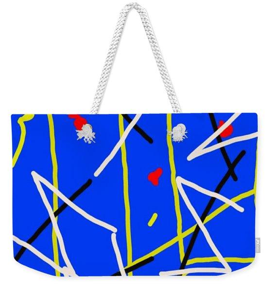 Electric Midnight Weekender Tote Bag