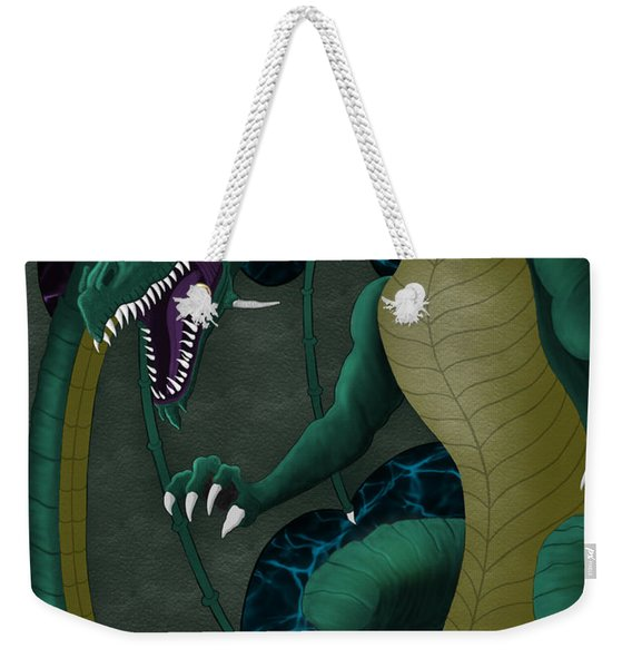 Electric Portal Dragon Weekender Tote Bag