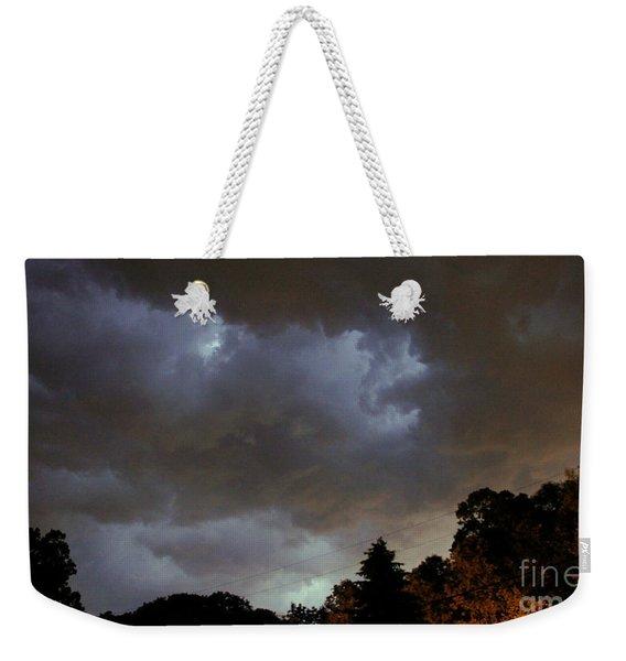 Electric Sky Of Faces Weekender Tote Bag