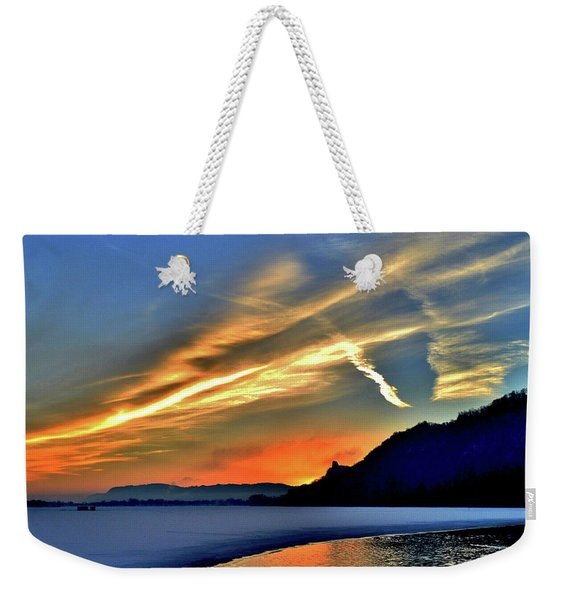 Electric Sunrise Weekender Tote Bag