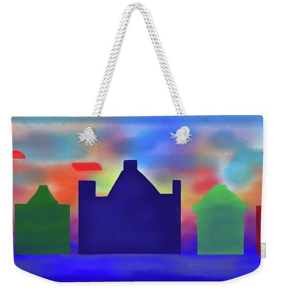 Electric Sunrise Weekender Tote Bag