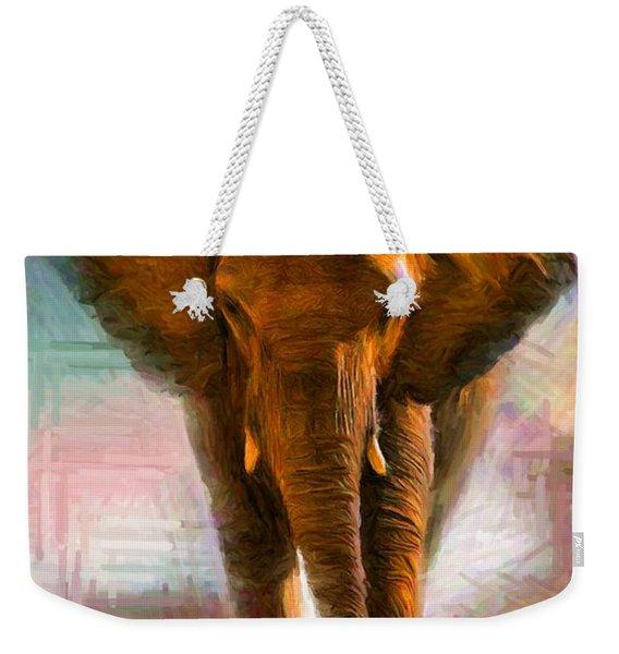 Elephant 1 Weekender Tote Bag