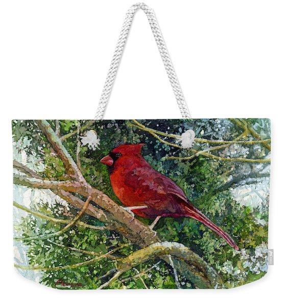 Elegance In Red Weekender Tote Bag