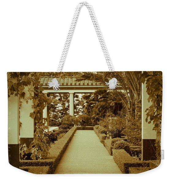 Elegant Aged Path Weekender Tote Bag
