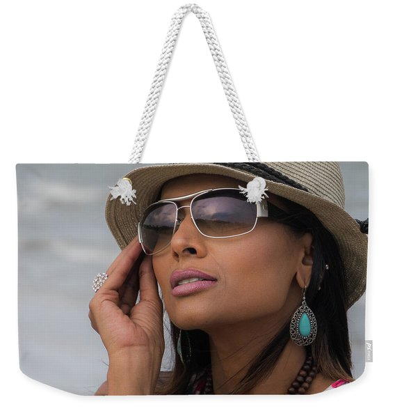 Elegant Beach Fashion Weekender Tote Bag
