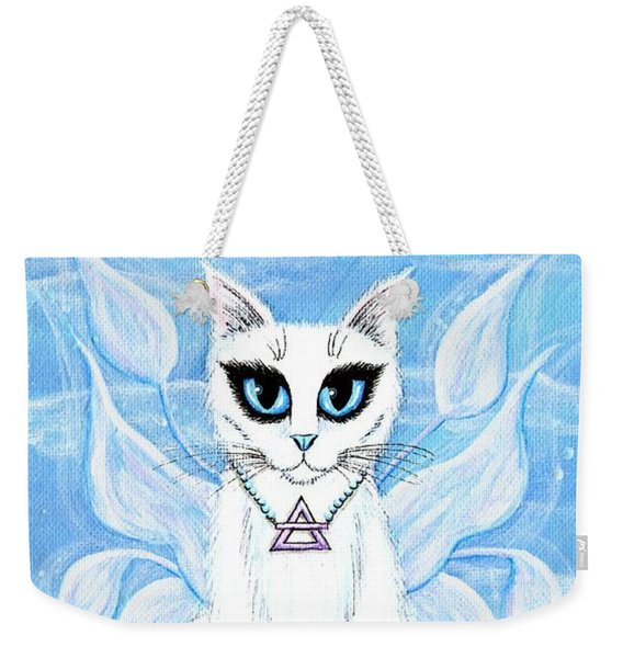 Elemental Air Fairy Cat Weekender Tote Bag