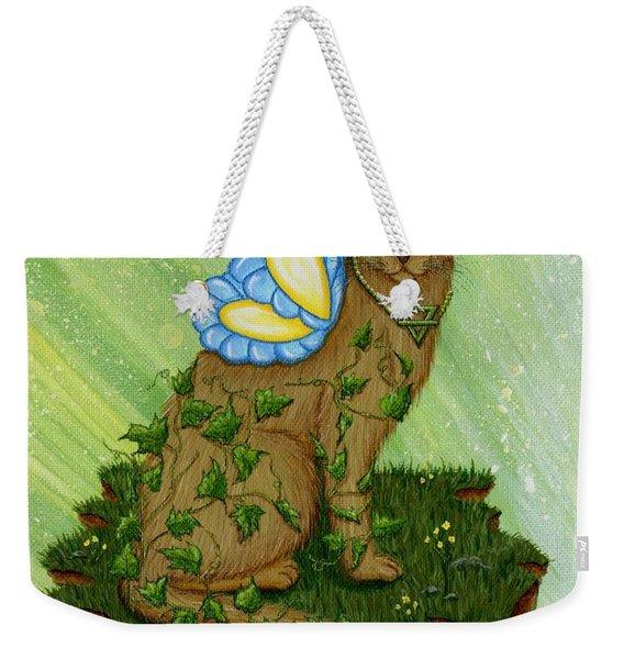 Elemental Earth Fairy Cat Weekender Tote Bag