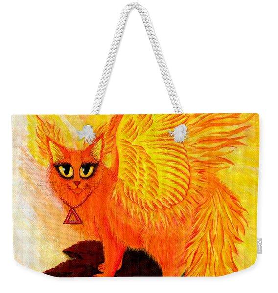 Elemental Fire Fairy Cat Weekender Tote Bag