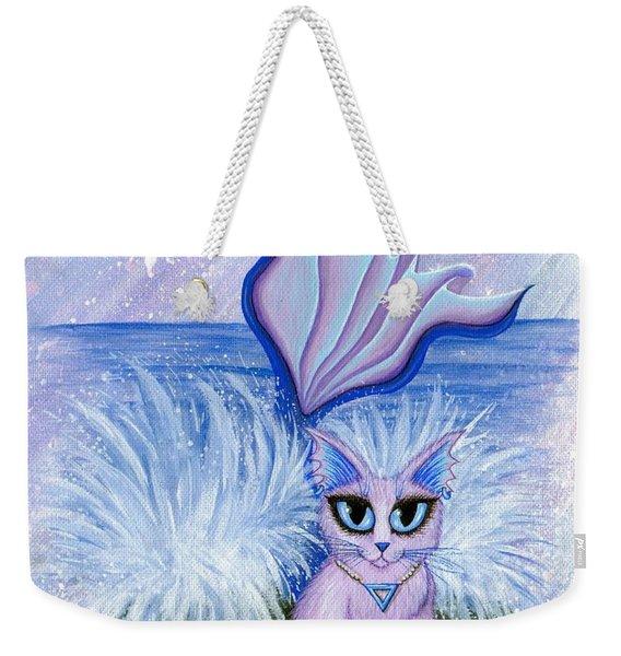 Elemental Water Mermaid Cat Weekender Tote Bag