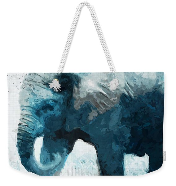 Elephant- Art By Linda Woods Weekender Tote Bag