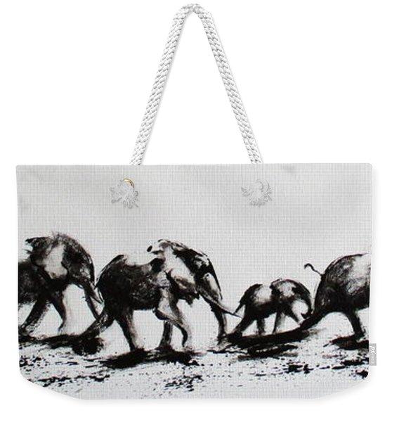 Elephant Fun Weekender Tote Bag