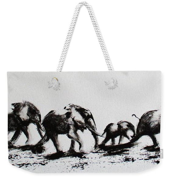 Elephant Fun Weekender Tote Bag