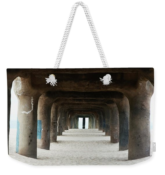Weekender Tote Bag featuring the photograph Elephant Legs by Lorraine Devon Wilke
