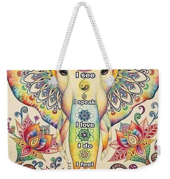 Elephant Philosophy Weekender Tote Bag