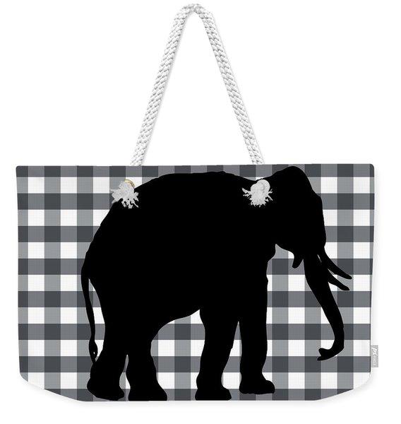 Elephant Silhouette Weekender Tote Bag