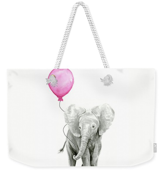 Baby Elephant Watercolor  Weekender Tote Bag
