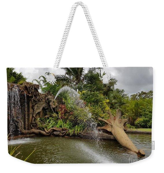 Elephant Waterfall Weekender Tote Bag
