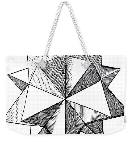 Elevated Solid Icosahedron  Weekender Tote Bag
